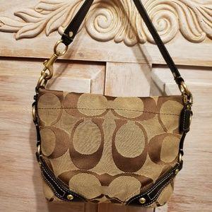 Coach small hamptons signature handbag